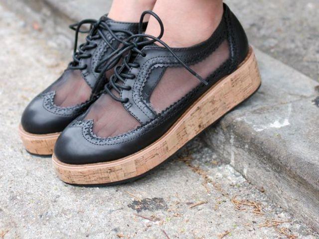 Pantofi cu talpa groasa si inalta dama