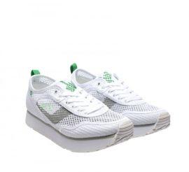 Cumpara Adidasi albi cu platforma si plasa ieftini