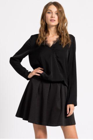 Cumpara Bluza eleganta de seara neagra cu decolteu in v
