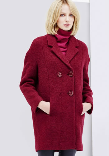 Cumpara Palton dama iarna rosu oversized