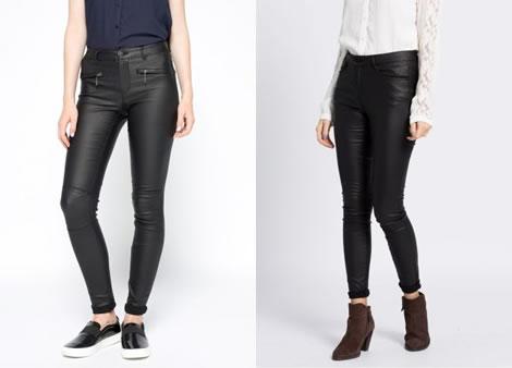 pantaloni cu aspect de piele skinny dama