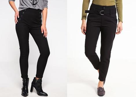 pantaloni cu talie inalta elastici skinny