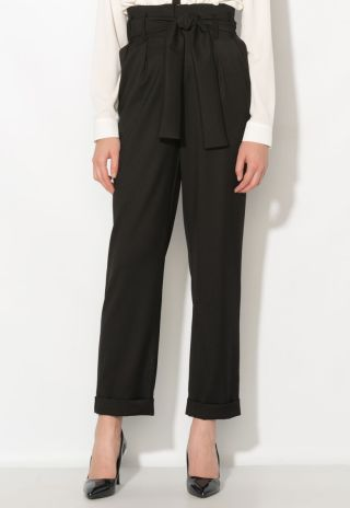 Cumpara Pantaloni culottes eleganti cu talie inalta