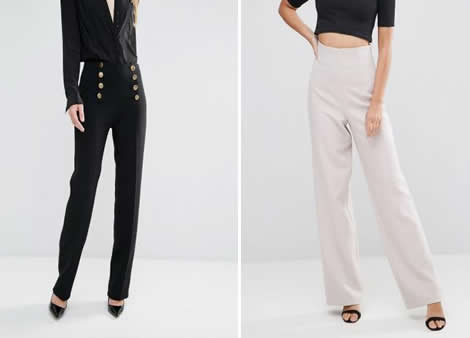 pantaloni dama eleganti cu talie inalta