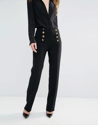 Cumpara Pantaloni dama eleganti cu talie inalta