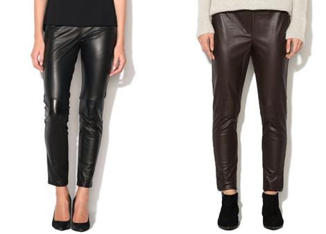 pantaloni din piele ecologica dama conici