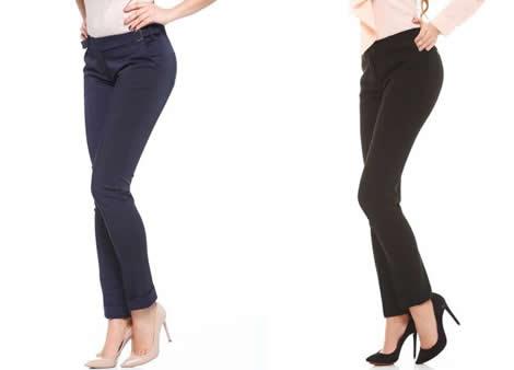 pantaloni office conici dama