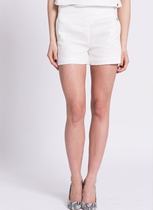 pantaloni scurti dama albi