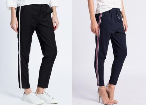 pantaloni sport dama cu turul lasat