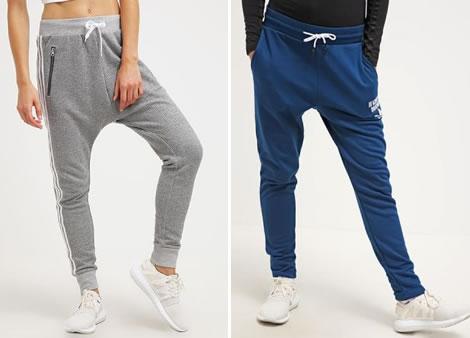 Pantaloni trening Adidas conici cu tur lasat