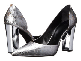 Cumpara Pantofi cu platforma si toc gros argintii