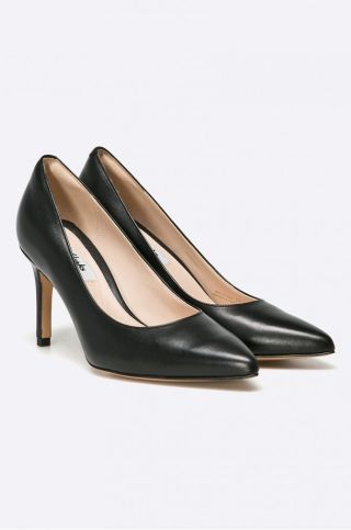 pantofi cu toc negri clarks