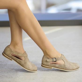 Cumpara Pantofi dama cu talpa joasa si bareta pe glezna