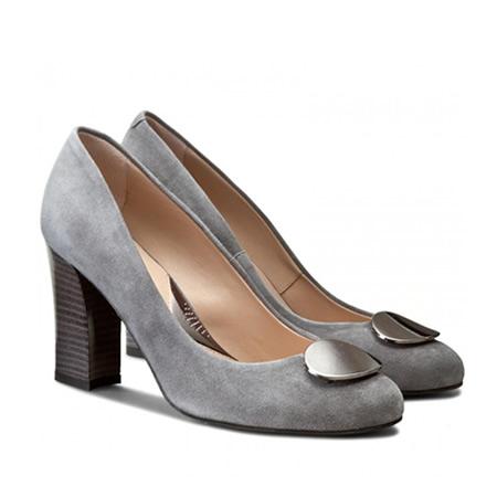 pantofi de catifea cu toc gros mediu