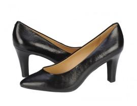 pantofi geox cu toc mic din piele naturala