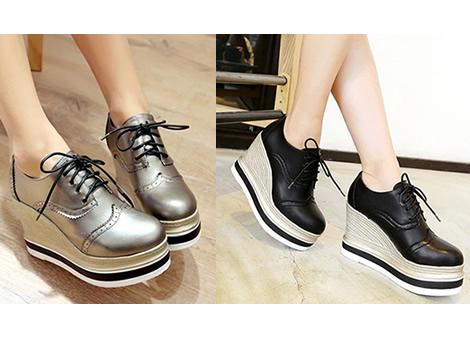 pantofi oxford dama cu platforma si talpa ortopedica