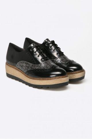 pantofi oxford piele lacuita