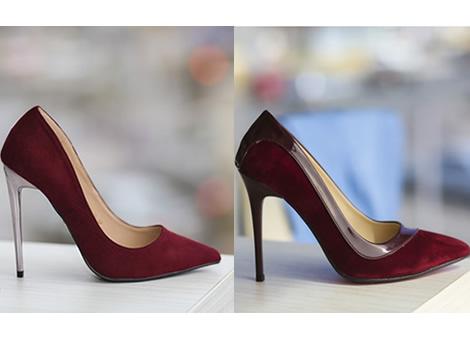 pantofi stiletto bordo piele intoarsa eco ieftini