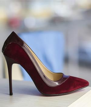 Cumpara Pantofi stiletto bordo piele intoarsa eco ieftini