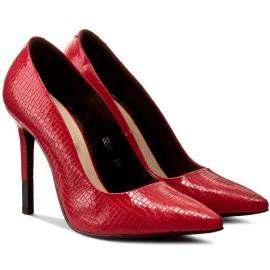 pantofi stiletto rosii cu toc inalt