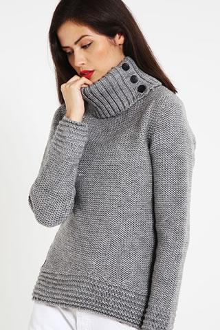 Cumpara Pulover dama pe gat din lana