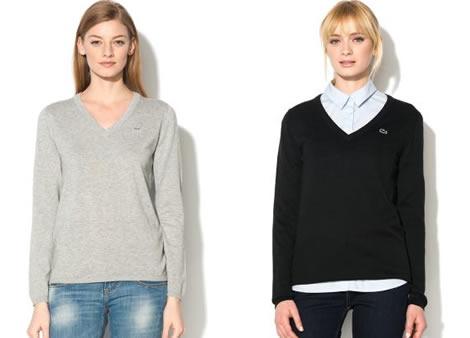 pulover lacoste dama cu anchior