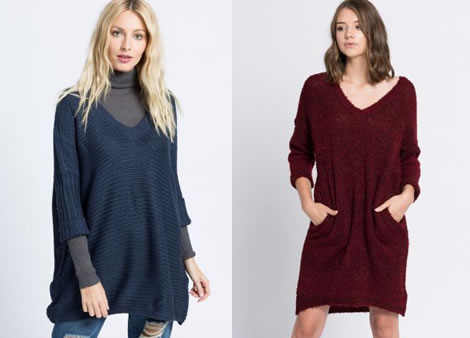 pulover supradimensionat lung cu anchior