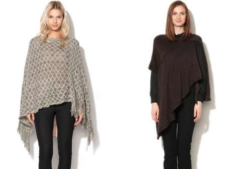 pulover tip poncho tricotat