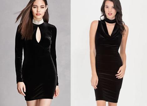 rochie catifea scurta neagra de seara