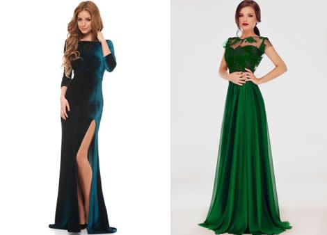 rochie de seara verde smarald