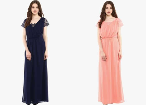 rochie lunga voal cu dantela