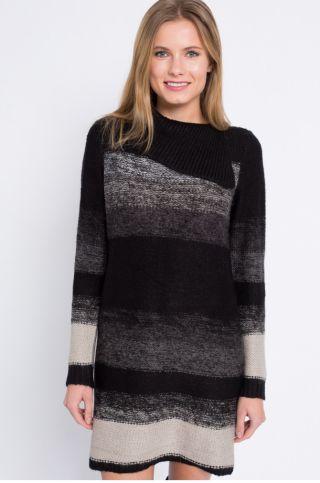 Cumpara Rochie pulover tricotata cu guler inalt