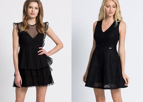 rochie scurta guess neagra eleganta