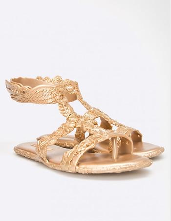 Cumpara Sandale cu talpa joasa aurii