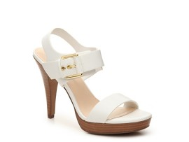 Cumpara Sandale cu toc si platforma albe