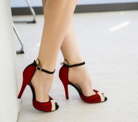 sandale elegante cu toc mediu