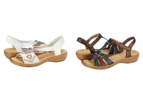 Sandale dama Rieker cu talpa groasa Pantofi Online