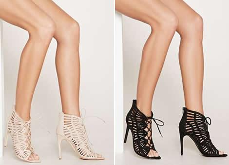 sandale stiletto cu siret