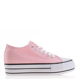 Cumpara Tenisi dama tip converse ieftini roz